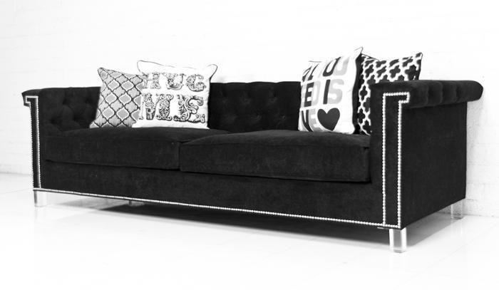 Www Roomservicestore Com Sinatra Sofa In Black Velvet