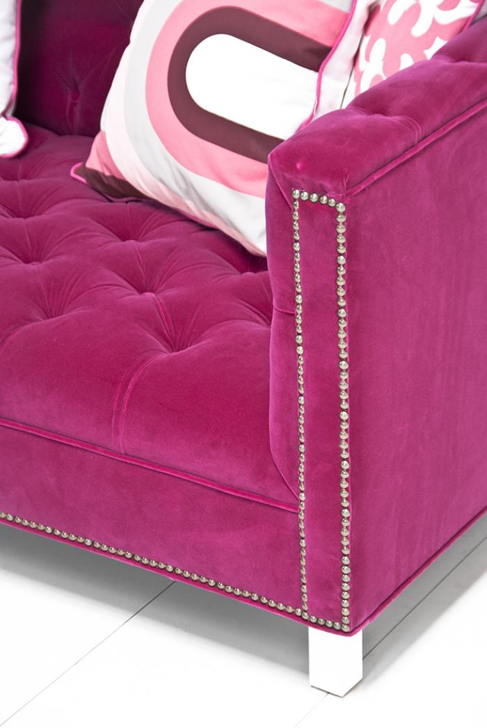 Www Roomservicestore Com Hot Pink Velvet Hollywood Love Seat