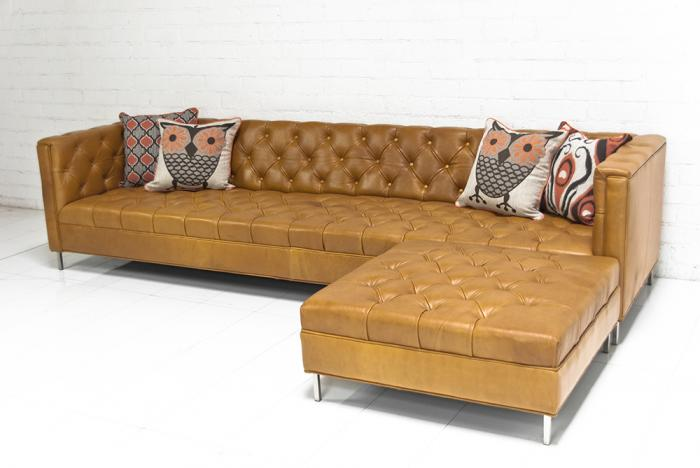 Mid Century Leather Sofa Sectional – Hereo Sofa