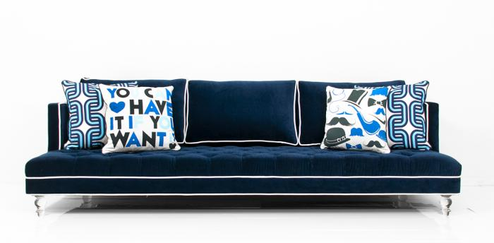 Groovy Roomservicestore Com Down With Love Sofa In Navy Velvet Creativecarmelina Interior Chair Design Creativecarmelinacom