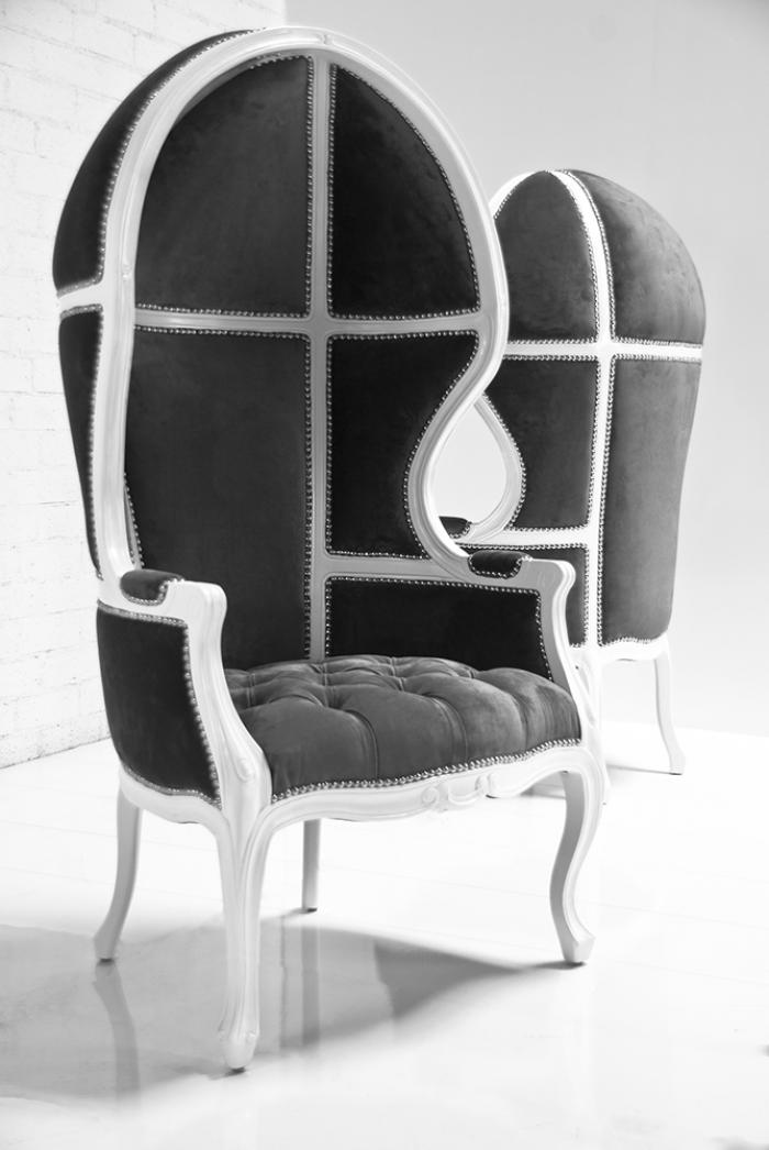 Www Roomservicestore Com Balloon Chair In Charcoal Velvet