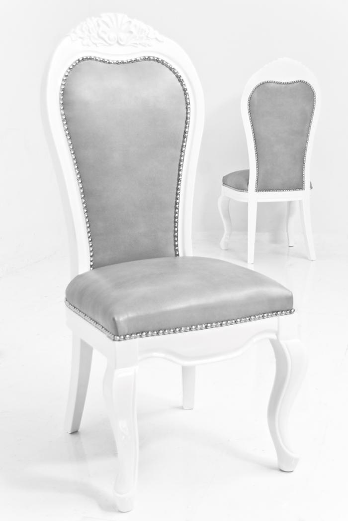 Riviera Dining Chair In Grey Faux Leather