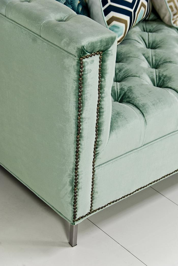 Www Roomservicestore Com Hollywood Sectional In Brussels Aqua Velvet