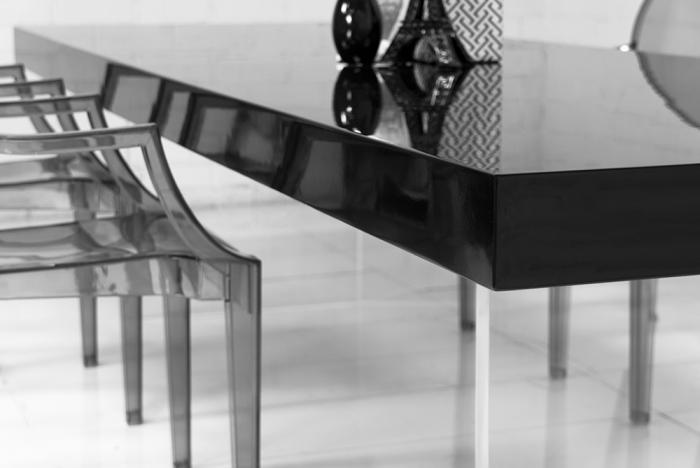 www.roomservicestore.com - Lucite Plinth Leg Dining Table
