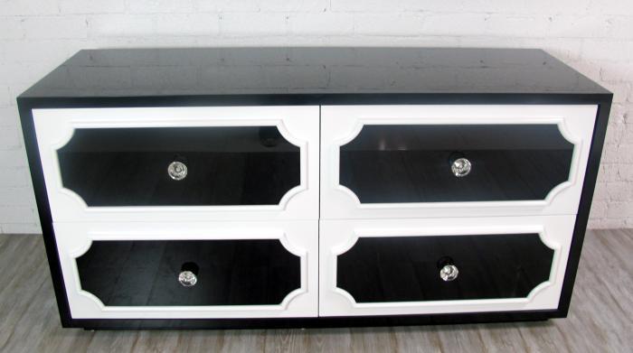 Hollywood 4 Drawer Dresser In White Black