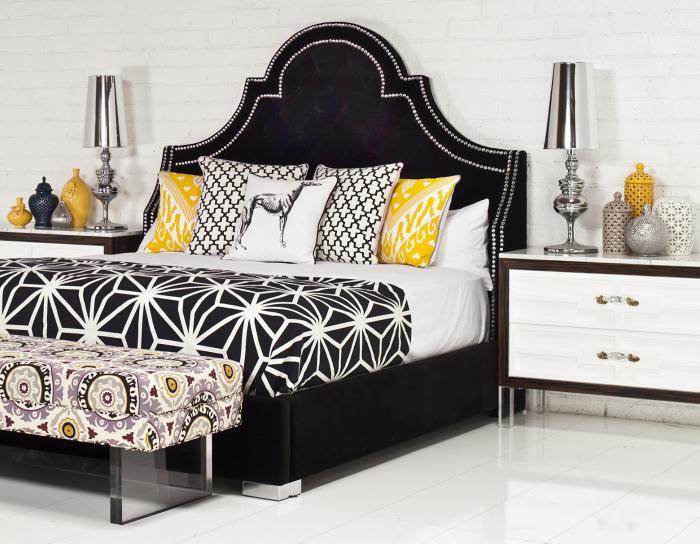Www Roomservicestore Com Bel Air Bed In Black Velvet